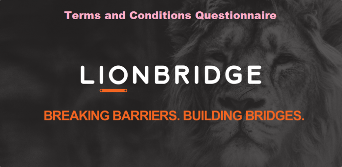 Lion Bridge Application terms