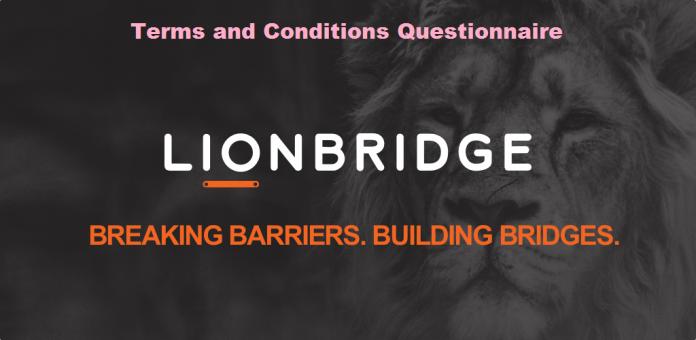 Lion Bridge Application terms